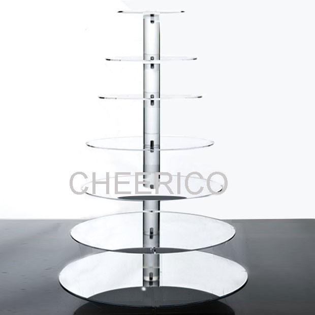 7 Tier Mirrored Maypole Cupcake Stand