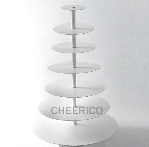 7 Tier White Round Maypole Cupcake Stand