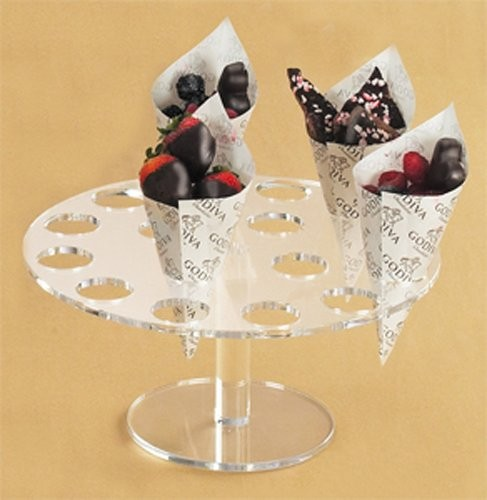 16  Ice Cream Candy Cones Holder Acrylic Stand