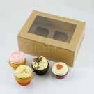 2 Cupcake Kraft Window Box($1.35/pc x 25 units)