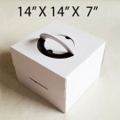 "Cake Boxes with Handle - 14"" x 14"" x 7"" ($3.00/pc x 25 units)"