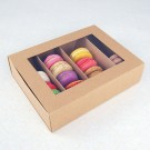 24 Macaron Kraft Window Boxes ($2.80/pc x 25 units)