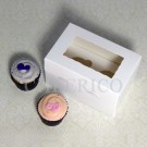2 Window Mini Cupcake Box ($1.40/pc x 25 units)