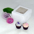 4 Window Mini Cupcake Box ($1.50/pc x 25 units)